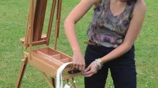 Jackson's Half Sized French Style Box Easel - Jackson's Art Supplies