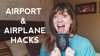 32 Airport & Airplane Travel Hacks