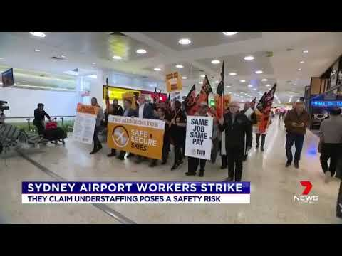 Sydney Airport Workers Protest