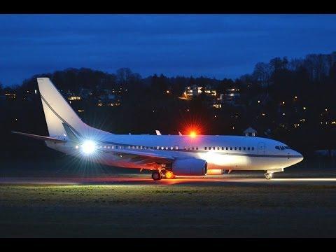 BBJ Boeing 737-79T (VP-BWR) - Takeoff in Berne HD