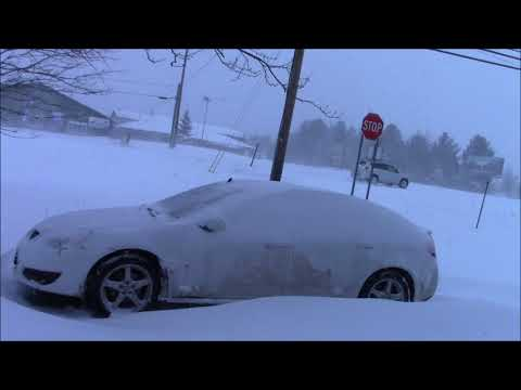 Huge Winter Storm White Out Driving Conditions!! Spring In Alpena Michigan 2018!!