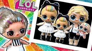 Бабушка ЛОЛ ООАК и ее СЕМЕЙКА LOL 80s B.B. Мультик про куклы лол сюрприз Families Surprise