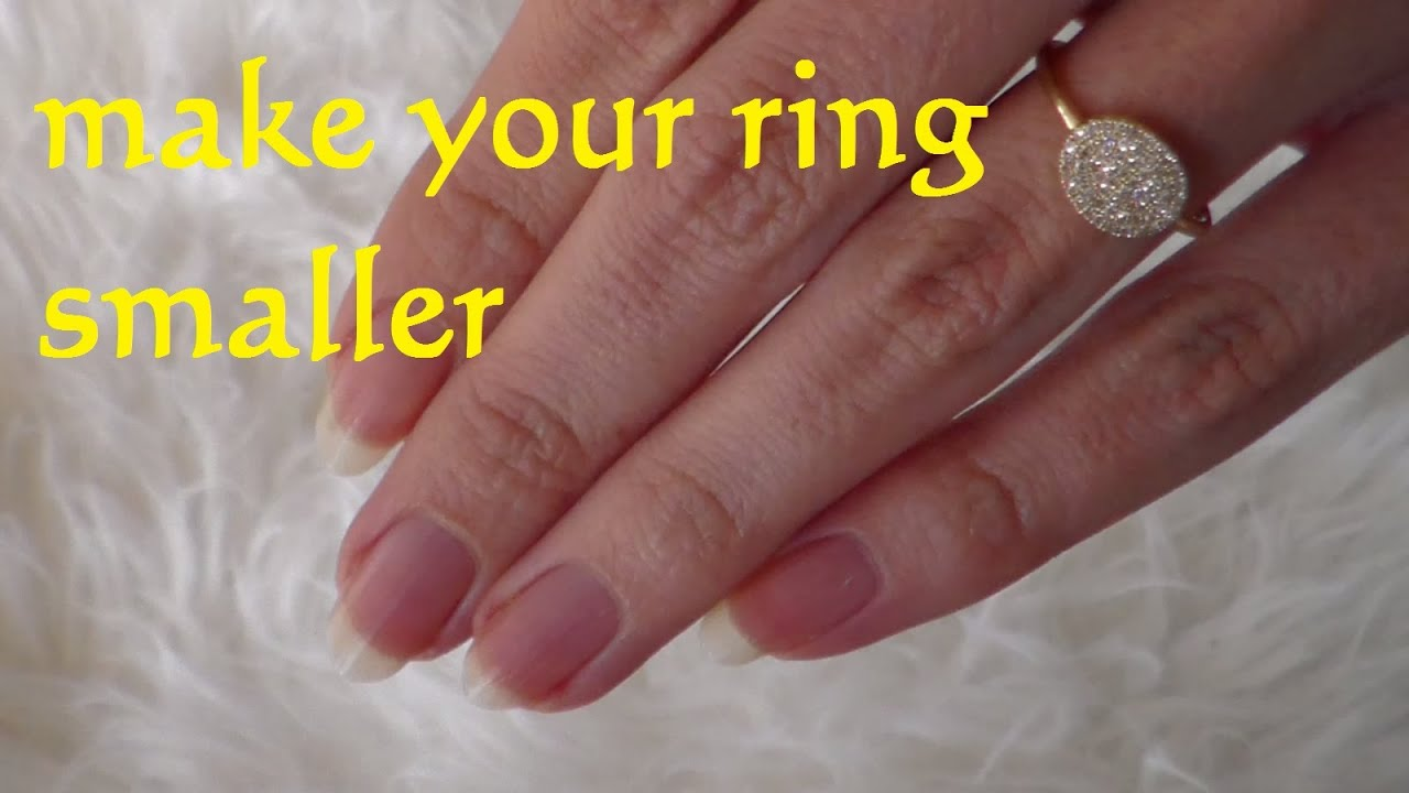 Diy Resize Ring Smaller How To Make A Lifehack Wedding You