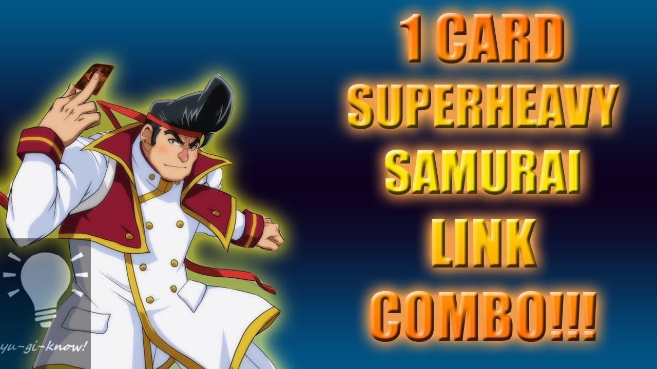 Superheavy Samurai 1 To 3 Card Combos Yu Gi Know Dl Youtube