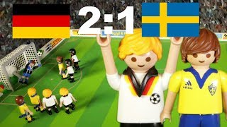 ⚽DEUTSCHLAND - SCHWEDEN 2:1 FIFA FUSSBALL WM 2018 HIGHLIGHTS Playmobil Stop Motion deutsch