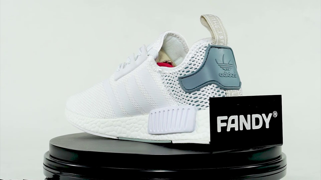 e98380512c3c7 NMD R1 W White Tactile Green - YouTube