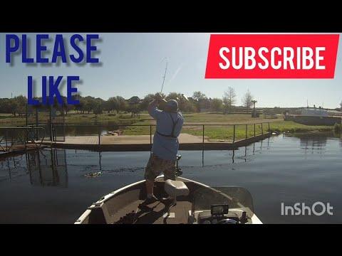 Wacky rigging a clear Possum Kingdom lake