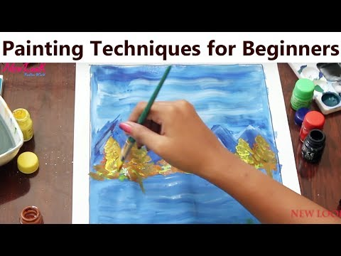 Painting Technique for Beginners | Basic Easy Step by Step