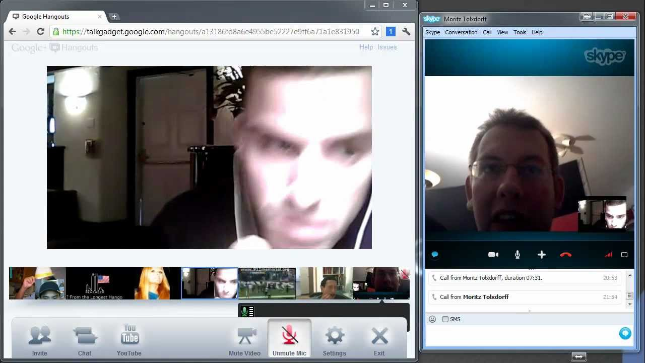 How to join with Skype in a Google Hangout Gtalk Video Chat