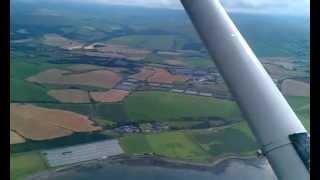 Flying between turnberry and girvan