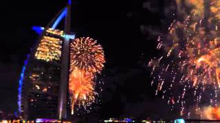 Dubai 360 club NYE 2013 - fire works part I