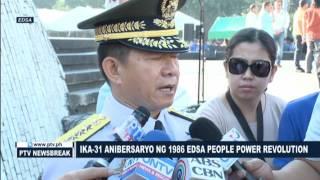 NEWS BREAK: Flag raising at Wreath-laying sa simpleng selebrasyon ng ika-31 Anibersaryo ng EDSA Peop