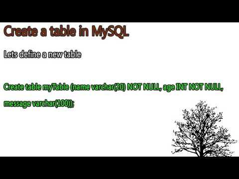 Basics of MySQL for beginners. Create your first database and table