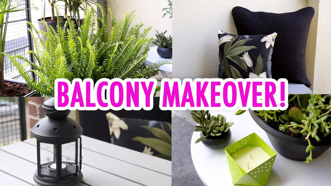 Julia 39 s balcony makeover hgtv handmade youtube for Balcony makeover