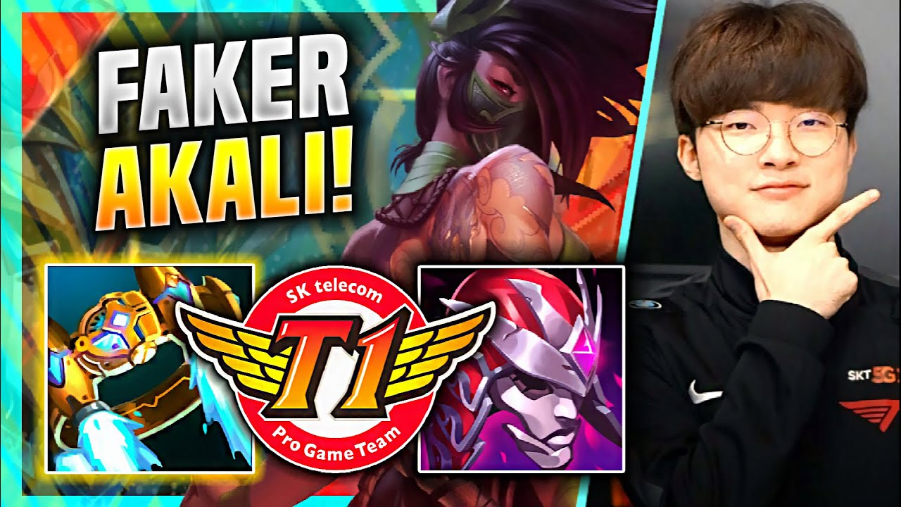 FAKER THE AKALI GOD IS BACK! - T1 Faker Plays Akali Mid vs Rumble! | KR SoloQ Patch 11.8
