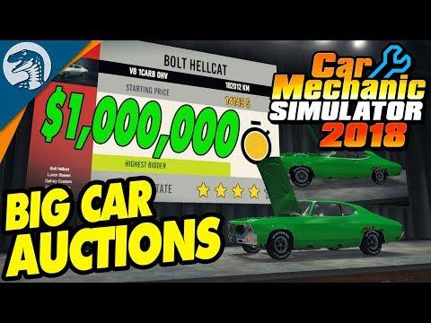 BIG MONEY AUCTIONS, RARE FINDS & CLASSIC CARS  Car Mechanic Simulator 2018 Gameplay