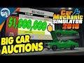 BIG MONEY AUCTIONS, RARE FINDS & CLASSIC CARS| Car Mechanic Simulator 2018 Gameplay