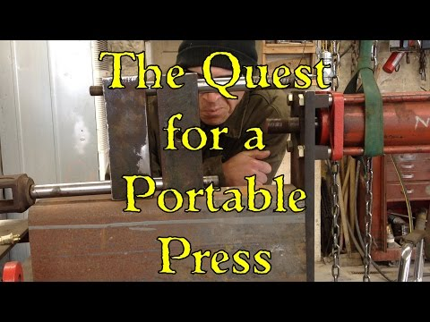 Pipe Squisher Build with live hydraulics (Portable Press?) Part 1 of 2