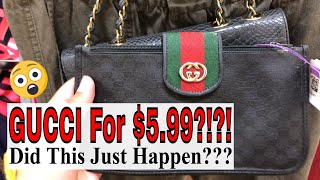 Thrift With Me   I THRIFTED GUCCI FOR $5.99!!   Jillian Felice