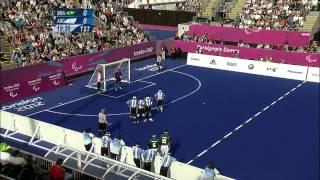 Football 5-a-side - BRA versus ARG - 1st half - Men's Semifinal 2 - London 2012 Paralympic Games