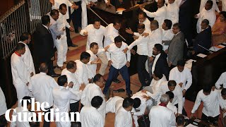 Sri Lanka MPs fight in parliament as political turmoil continues