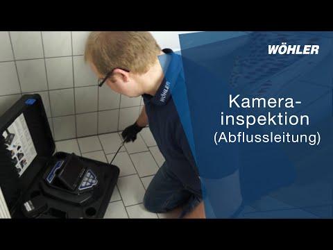 Kamerainspektion einer Abflussleitung