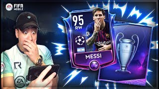 FIFA MOBILE UEFA CHAMPIONS LEAGUE BUNDLE OPENING!! 95 OVR MESSI CARD!!