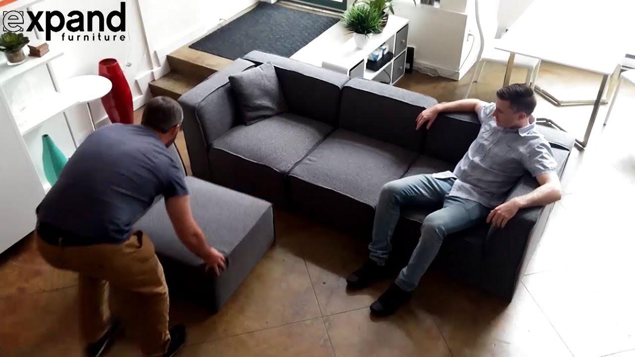 Adjustable Sofa - Soft Cube Modular System changes shape ...