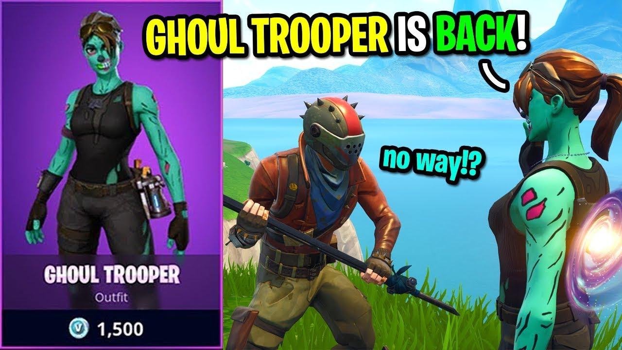 fortnite ghoul trooper im shop  fortnite v bucks pve
