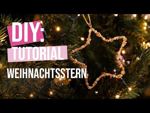 DIY Tutorial: Weihnachtsstern als Christbaumanhänger basteln