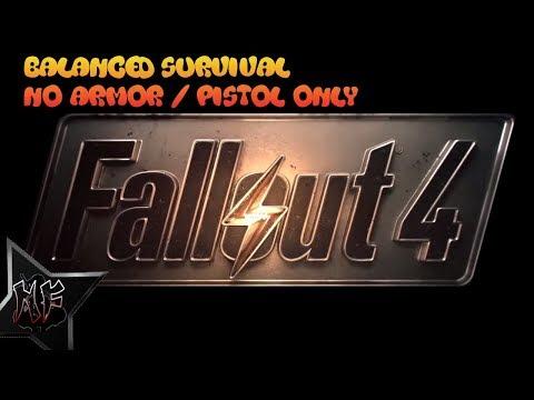 Fallout 4 Survival - No Armor / Pistol Only   Balanced Survival Mode   XBox One X