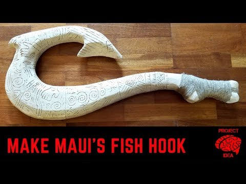 Make Maui's fish hook from styrofoam insulation, easy