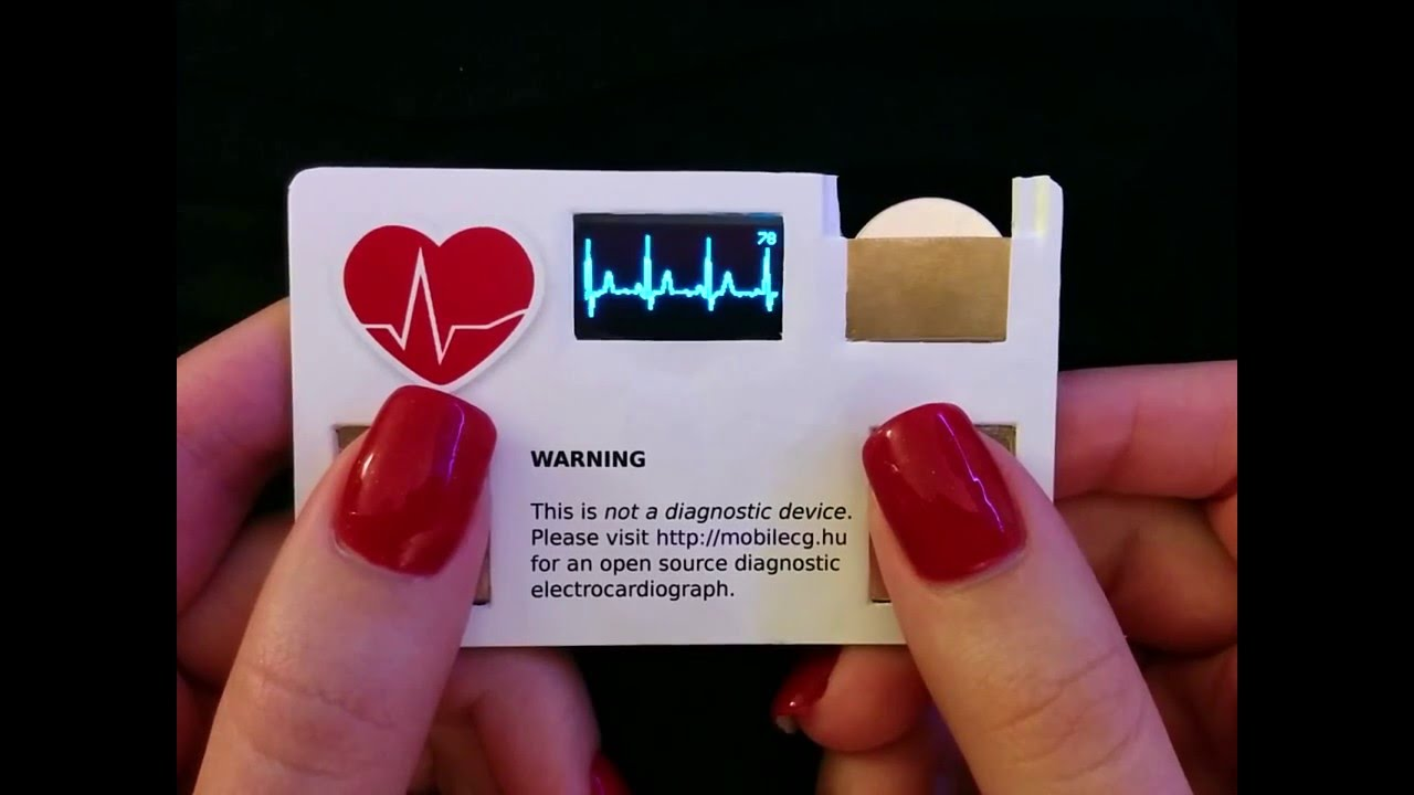 Business card with a working mini ekg youtube youtube premium colourmoves