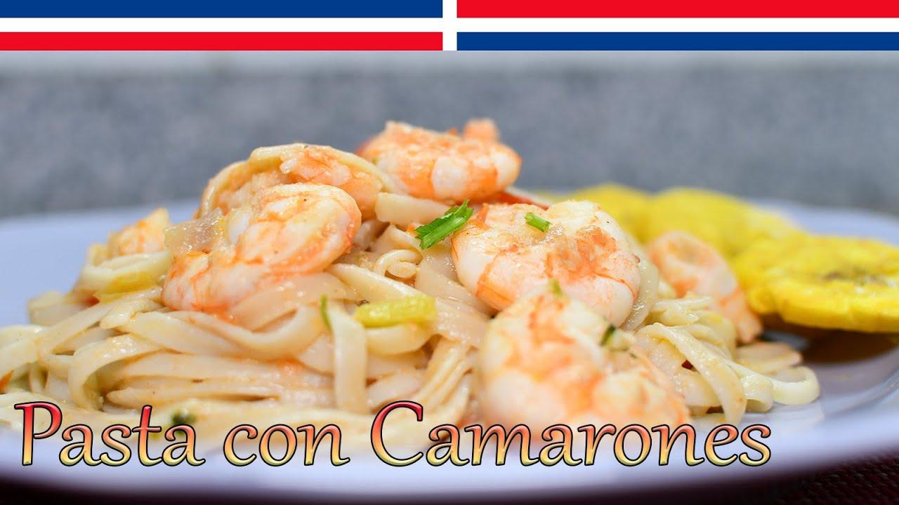 Pasta con Camarones (Linguinis con Camarones) - Cocinando con Yolanda