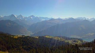 4K Beatenberg Berner Oberland SWITZERLAND アルプス山脈 aerialview