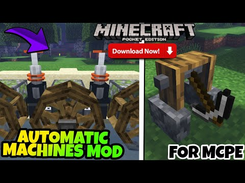 AUTOMATIC MACHINES MOD FOR MINECRAFT POCKET EDITION