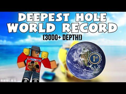 Roblox Treasure Hunt Simulator World Record Deepest Hole 3000