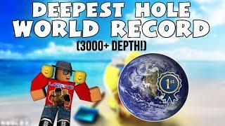 [Roblox] Treasure Hunt Simulator: WORLD RECORD DEEPEST HOLE! (3000 + DEPTH)