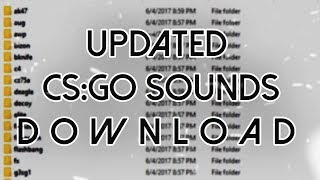 CS:GO All UPDATED Original Sounds Pack Download (updated: Weapons,player,radio etc)
