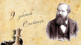 Уроки шахмат. 9 законов  Вильгельма Стейница.