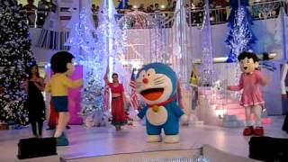 Doreamon with friends at Queensbay Mall,Penang.