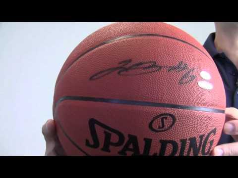 sale retailer 6fd69 dd60a Autographed Lebron James Basketball - Official Game Ball - UDA