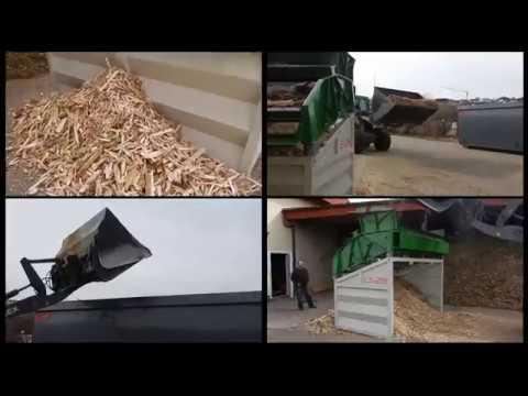 Hackschnitzel sieben Rüttelsieb LS28 von Xava Recycling / Screening of Wood Chips with Xava LS28
