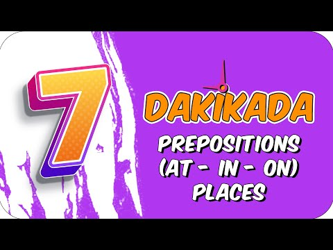 7dk'da PREPOSITIONS(AT-IN-ON) PLACES