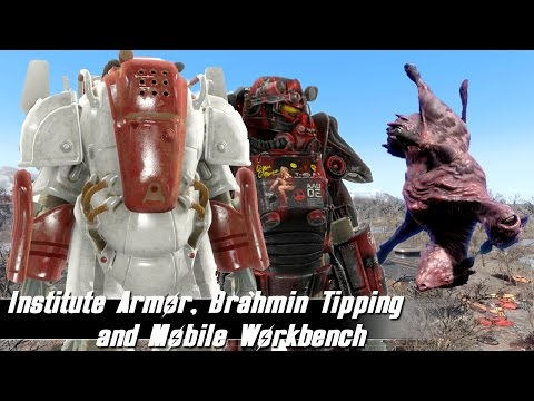 Fallout 4 Mods Week 31 - Institute Armor, Brahmin Tipping and Mobile Workbench