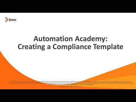 BSA: Creating a compliance template
