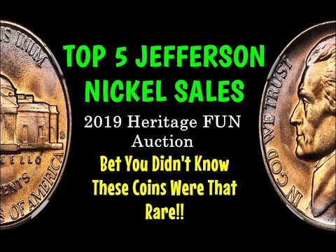 TOP 5 Jefferson Nickels Sold On Heritage Auction's 2019 FUN Sale - HUGE MOJO!!