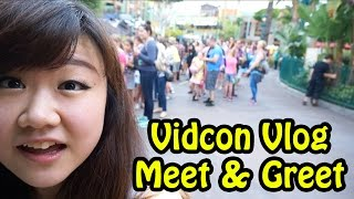 vidcon vlog meet and greet with radiojh audrey chad alan and cybernova disneyland
