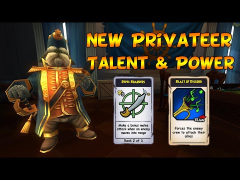Pirate101: New Privateer Talent & Power