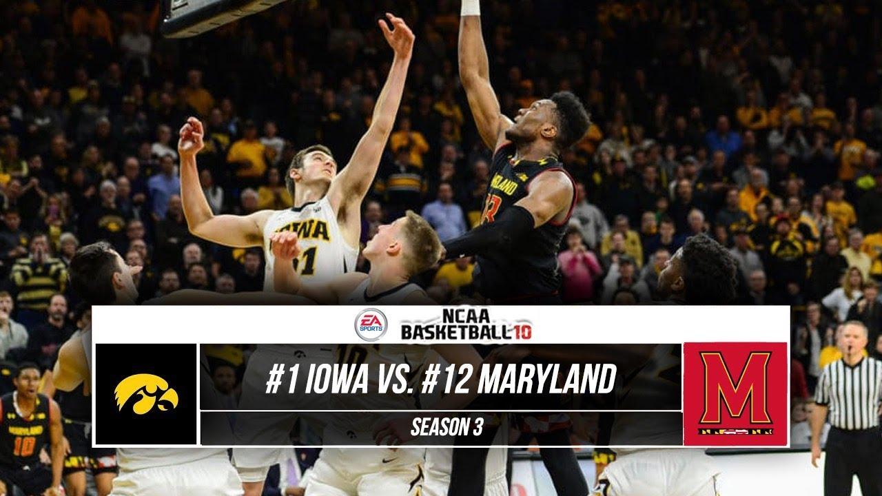 #1 Iowa vs. #12 Maryland | NCAA Basketball 10 | EP. 88 ...
